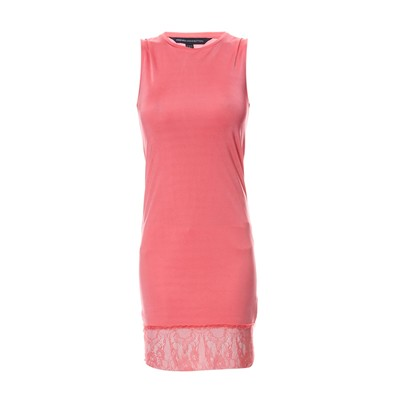 French Connection Vestido recto - coral