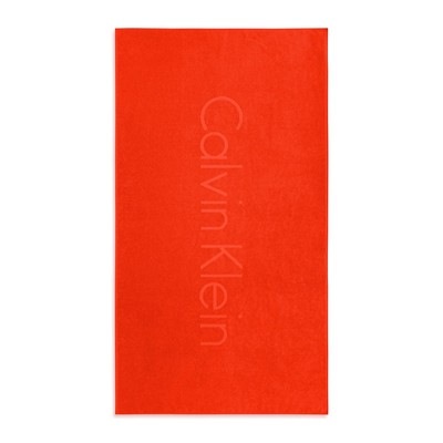 CALVIN KLEIN HOME Logo Engine - Serviette de plage - orange
