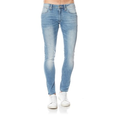 JACK & JONES Liam - Jean skinny - denim bleu