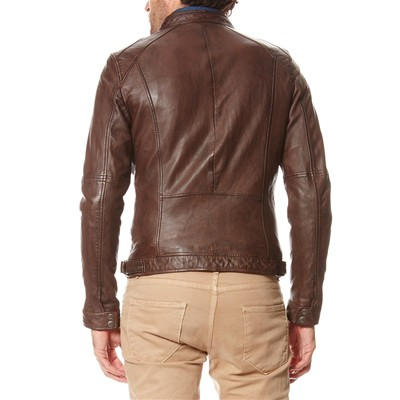 OAKWOOD Casey - Veste en cuir - marron