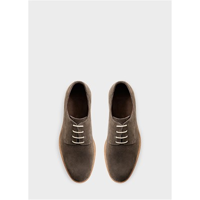 MANGO MAN Derbies en cuir - gris