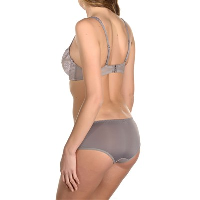 Zylla - Ensemble soutien-gorge push-up et shorty - gris