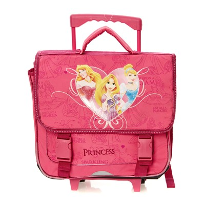 PRINCESSES Princesses - Cartable à roulette - rose
