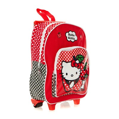 HELLO KITTY Hello Kitty - Sac à dos à roulettes - rouge