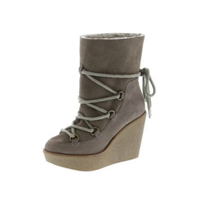 Lea - Boots en cuir - taupe