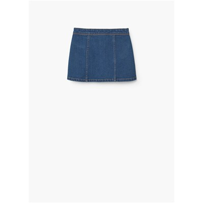 MANGO KIDS Jupe - denim bleu