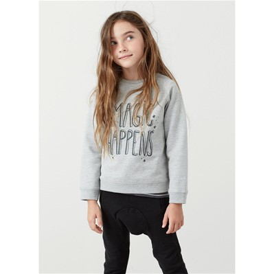 MANGO KIDS Sweat-shirt - gris
