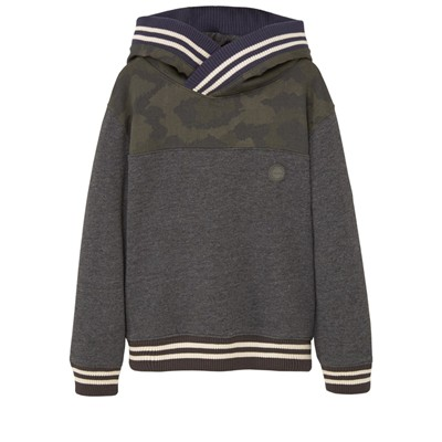 MANGO KIDS Sweat à capuche - gris