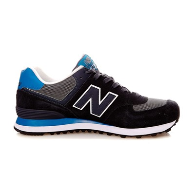 NEW BALANCE ML574 D - Baskets en cuir mélangé - noir