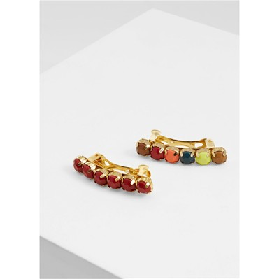 Set de 2 barrettes à cheveux - multicolore