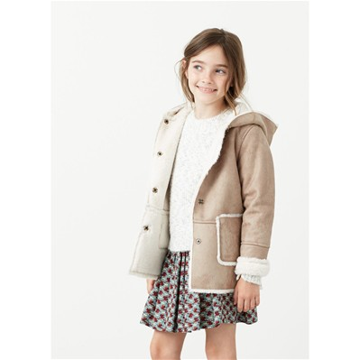 MANGO KIDS Manteau - marron clair