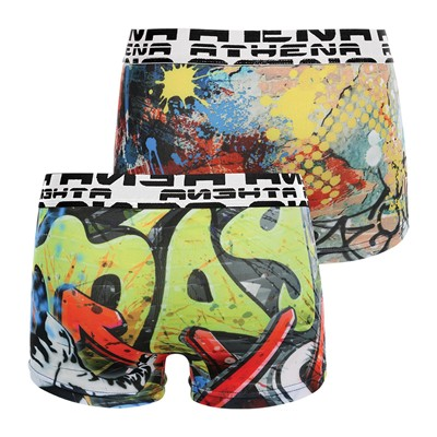 ATHENA Graffiti - Lot de 2 boxers - multicolore