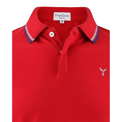 YVES ENZO Polo - rouge