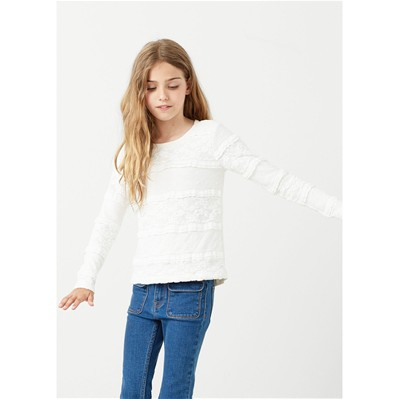 MANGO KIDS Sweat à capuche - blanc