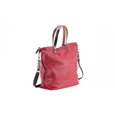 PAQUETAGE Aromatic - Sac cabas en cuir - rouge