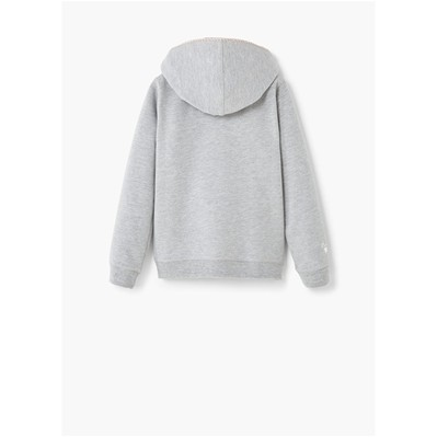 MANGO KIDS Sweat à capuche - gris clair