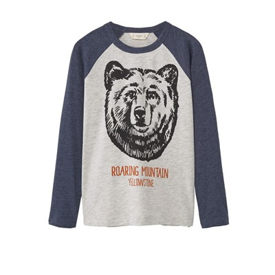 MANGO KIDS T-shirt - gris clair