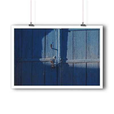 BALIBART Blue door - Affiche d'art - bleu