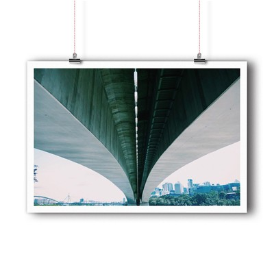 BALIBART Under the bridge - Affiche d'art