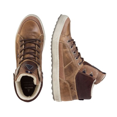 GAASTRA Crossjacks High - Baskets en cuir - taupe