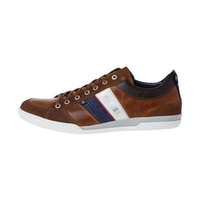 GAASTRA Spin Stripes - Baskets en cuir - cognac