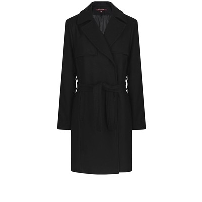 Trench coat bavolet - noir