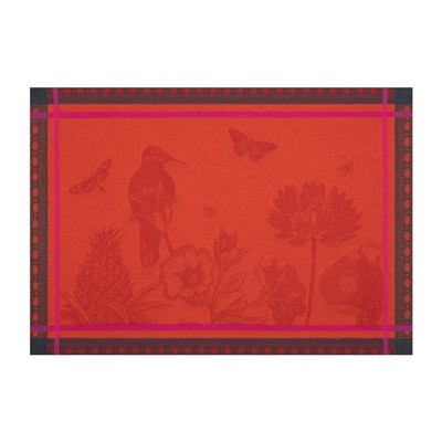 LE JACQUARD FRANÇAIS Histoire Naturelle Ibis - Sets de table - orange