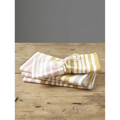 CYRILLUS Lot de 4 serviettes de table - multicolore
