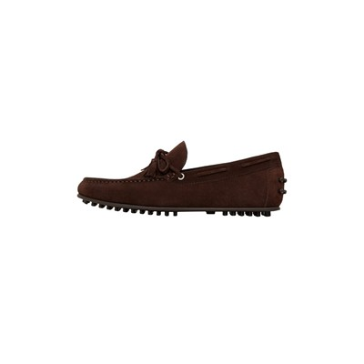 MANGO MAN Mocassins en cuir - marron