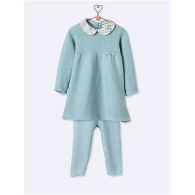 CYRILLUS Ensemble robe et legging - gris chine