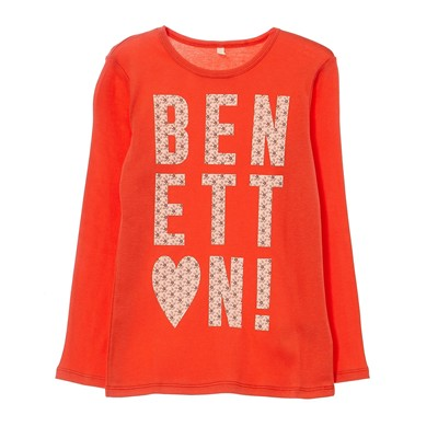BENETTON T-shirt - corail