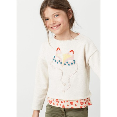 MANGO KIDS Sweat-shirt - beige