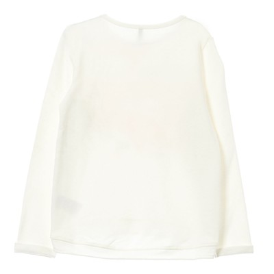 BENETTON Sweat-shirt - blanc