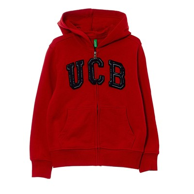 BENETTON Sweat à capuche - rouge