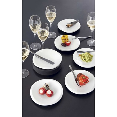 GUY DEGRENNE Strat - Lot de 6 assiettes - blanc