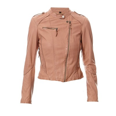 OAKWOOD Strawberry - Veste en cuir - beige