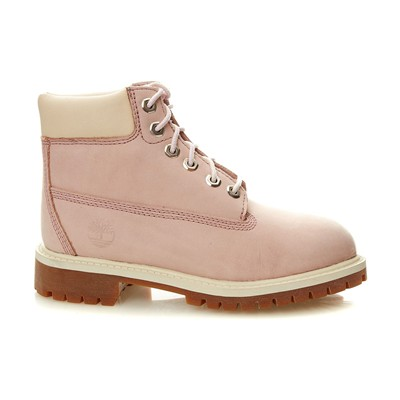 TIMBERLAND Boots en cuir - rose clair