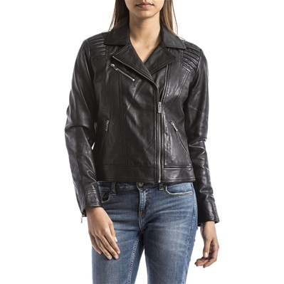 BLUE WELLFORD Veste en cuir - noir