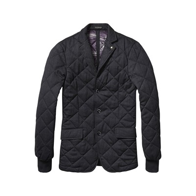SCOTCH & SODA Blazer en laine mélangée - anthracite