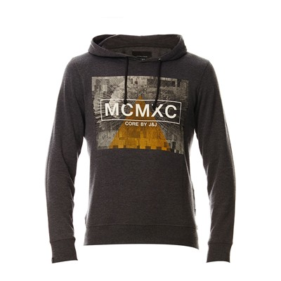 JACK & JONES Sweat à capuche - gris foncé