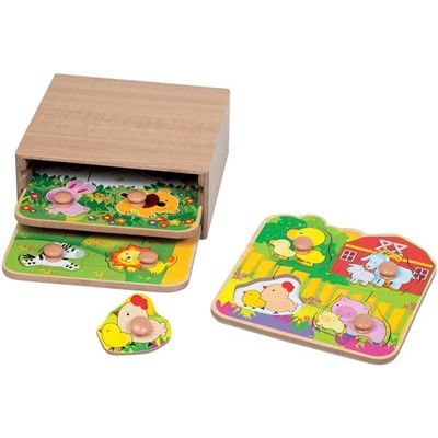 First Learning 3 puzzles 1er âge - multicolore