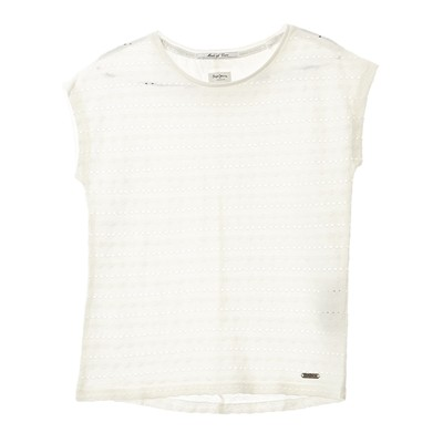PEPE JEANS LONDON ROSELLA - T-shirt - blanc