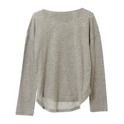 BENETTON T-shirt imprimé sequins - gris