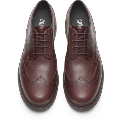 CAMPER Hardwood - Derbies en cuir - bordeaux