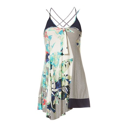 Robe courte - multicolore