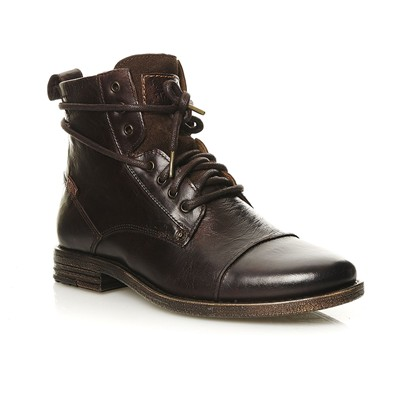 LEVI'S Emerson Lace Up - Boots en cuir - marron