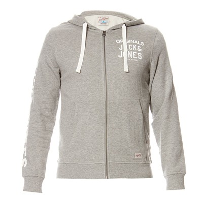 JACK & JONES Sweat à capuche - gris clair