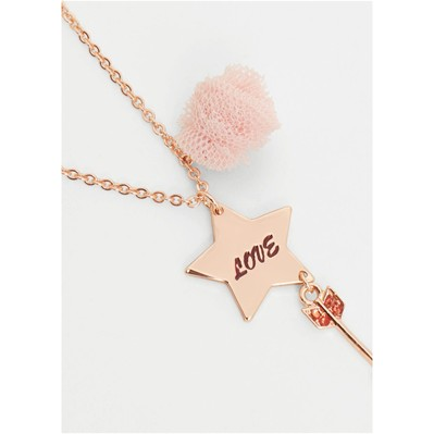 MANGO KIDS Collier - rose clair