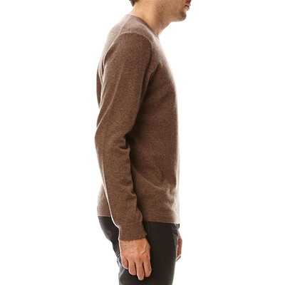 BENETTON Pull en laine Mérino - marron clair