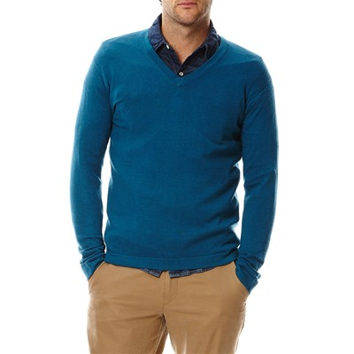 BENETTON Pull col V - canard